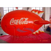 Quality PVC Inflatable Blimp Shaped Balloons / Airship Balloon With Multi - Colors for sale