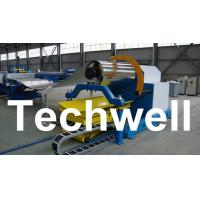 10 Ton Hydraulic Uncoiler Curving Machine With Coil Car With Coil Width 1500mm Manufactures