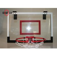 Wall Mounted Mini Basketball Hoop 45 X 30cm Clear Backboard For Family / Office Manufactures