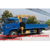 Factory sale good price YUEJIN Brand 4*2 LHD 3.2tons telescopic boom mounted on cargo truck, truck with crane for sale Manufactures