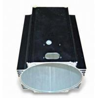 6005 T6 Bronze / Black Industrial Aluminium Profile , Solar PV Extruded Cylinder Shell Manufactures