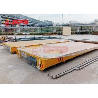 1-500 Ton Heavy Machinery Rail Transfer Cart With Audible Warning Device Manufactures
