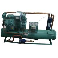 4HE-25Y 25HP Water Cooled Condensing Units , Freezer Condenser Unit High Efficiency Tube Heat Exchanger Manufactures