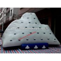 Quality Diving Fun Inflatable Iceberg In Water , Ocean Adults Floating Iceberg Climbing for sale