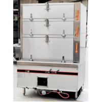 Commercial Gas Seafood Steamer 3 Independent Steam Compartment 1100*1000*1850mm 550w/220v Manufactures
