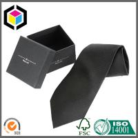 Quality Silk Screen Print Color Logo Boutique Cardboard Gift Tie Packing Box for sale