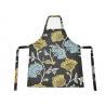Flower Pattern Cotton Kitchen Apron , Women Bib Home Kitchen Apron With Pockets Manufactures