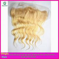 7A malaysian virgin hair lace frontal 13''x4'' ,613# color body wave hair lace closure Manufactures