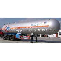 hot sale ASME standard LPG gas propane tank trailer, best price 56cbm 3 Axle LPG tank transport trailer for sale Manufactures