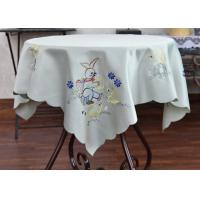 Multiple Colors Dining Table Cloth , Chemical Fiber Embroidery Table Cloth Manufactures