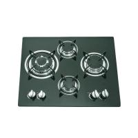 Glass Top 4 Burner Gas Stove Top 590x510mm With Thermocouple Type Safety Device Manufactures