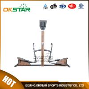 wooden street lamp outdoor fitness equipment elliptical trainer crossfit trainer Manufactures