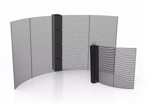 Indoor Hanging Curved SMD1921 P3.91 RGB LED Mesh Screen Manufactures