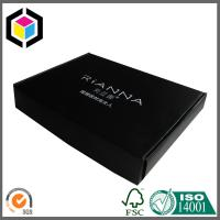 Black Color Cardboard Mailing Box; Colored Tuck Top Corrugated Shipping Box Manufactures