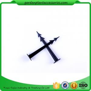Plastic Screw In Garden Ground Anchor For Netting Fix 27cm Length Black Plastic Garden plant accessories Manufactures