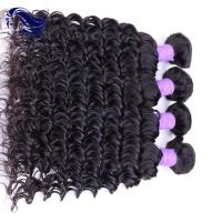 Deep Wave Virgin Peruvian Hair Extensions Double Weft With Grade 7A Manufactures