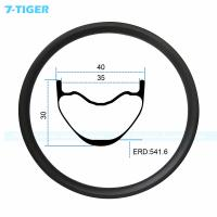 China 7-tiger carbon mountain bicycle wheel rim 27.5er cross conuntry bike fat XC bike 30 x 40  holes Tubeless Compatible on sale