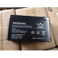 6V 7Ah Sealed Lead Acid Battery Free Maintenance For Alarm System Back Up Power Manufactures