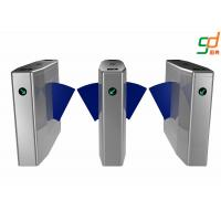 Customized Flap Barrier Gate / Full Automatic Subway Turnstile Access Manufactures