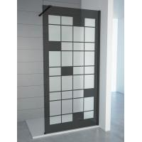 Tempered Smoke Glass with Matt Walkin Shower Enclosures with adjustable bar For Baths , Bathroom Shower Cabinets Manufactures