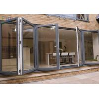 Heat Insulation Aluminium Folding Doors Corrosion Resistance With Insect Screen Manufactures