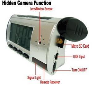 Home Security Mini Alarm Clock DVR Spy Hidden Surveillance Camera Audio Video Recorder Manufactures
