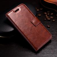 Quality Crazy Horse IPhone Leather Wallet Case For Iphone 8 5.8 Inch Protective Soft TPU for sale
