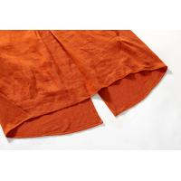 Quality Orange Linen Jersey Mixed Latest Casual Ladies Clothing Short Sleeve Winter Style for sale