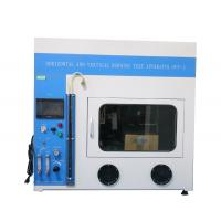 PLC Control Flammability Testing Equipment , Horizontal And Vertical Burning Test Apparatus Manufactures