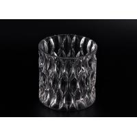 36OZ Large Wax Luxury Glass Votive Candle Holders With Pattern Manufactures
