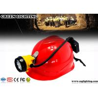 15000 Lux Led Miners Cap Lamp, 6.8AH Customized Semi - Corded Led Mining Lamp Manufactures