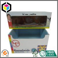 Toy Sets Corrugated Display Stand; Color Printed Cardboard Display Box Manufactures