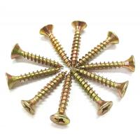 Metal Chipboard Flooring Screws , Flat  Csk Self Tapping Screw ST2.5 - ST6.0 Thread Manufactures