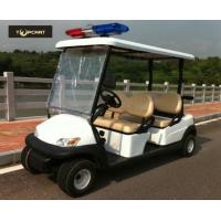 Four Person Custom Electric Golf Carts Police Patrol Car With Curtis Controller Manufactures