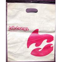 Embossing Die Cut Shopping Bag White Plastic Bags With Handles Manufactures