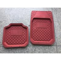 Buy cheap PVC material good quality hot sell red car foot mat for all car use from wholesalers
