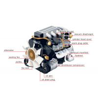 China 6.5 horse power four stroke OHV gasoline engine on sale