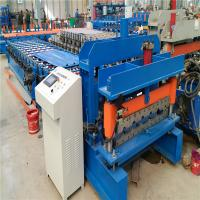 Customized color low noice glaze tile metal roof roll forming machine