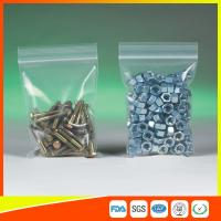 Quality Clear Packing Ziplock Bags For Hardware Packaging , Plastic Bag With Zipper for sale