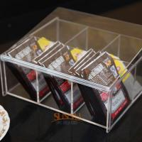 4mm Food Display Case Clear Acrylic Storage TraysWith 6 Lattices Manufactures