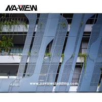 China Laser Cut Aluminum Wall Cladding Sheets Exterior Facade Panel on sale