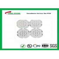 1 Layer PCB LED Aluminium Base Printed Circuit Board , White Solder Mask Manufactures