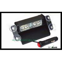 White 4 LED Hazard Warning Flashing Strobe Light With Suction Cup Mounts Manufactures