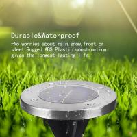 Quality 4LED Round Solar Inground Light Solar Underground Accent Lamp for Plaza Garden Landscaping Stainless steel Lampshade for sale