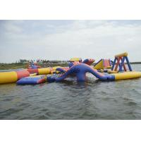 Quality PVC Inflatable Commercial Water Splash Park , Floating Water Playground Equipment for sale