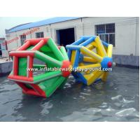 Quality 0.9mm PVC Tarpaulin Inflatable Water Roller / Water Walking Roller Floating Toys for sale