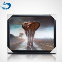 50*70cm 3d Lenticular Poster Animal Theme 3D Flip Effect With MDF Frame Manufactures