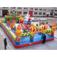 Kids Funny Inflatable Toy Sports Games Cartoon Castles With PVC Fireproof Manufactures