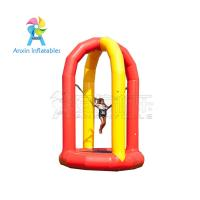 5 meter high airtight kids single inflatable bungee jump trampoline with 0.9mm pvc tarpaulin Manufactures