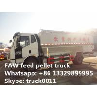 hot sale FAW brand 4*2 LHD 180hp 20m3 diesel poultry feed pellet truck, factory direct sale FAW J6 8tons-12tons bulk ani Manufactures